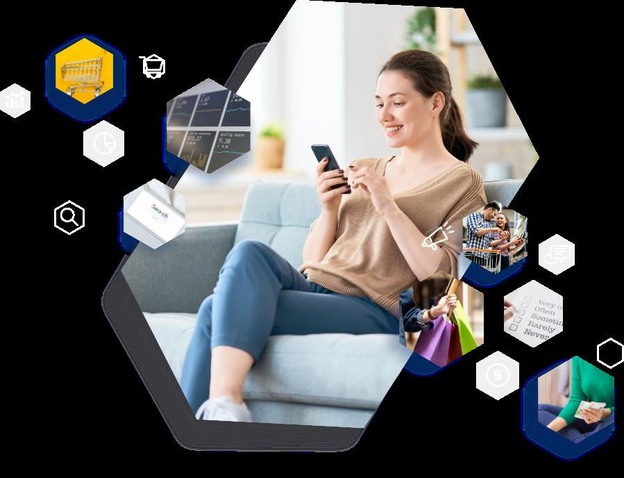 Perfil de Mujer que compra en línea