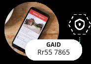 Identificador GAID Anónimo